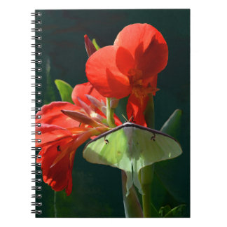 """""""Anticipation of the Night"""" - Luna Moth Painting Spiral Notebook"""
