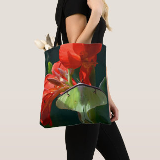 """Anticipation of the Night"" - Luna Moth Painting Tote Bag"