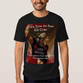 antiemo, Every Time An Emo Kid Cries, A Night R... Tee Shirts