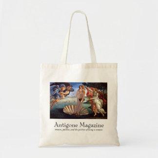Antigone Magazine Tote (grey suit) Budget Tote Bag