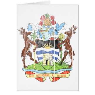 Antigua And Barbuda Coat Of Arms Card