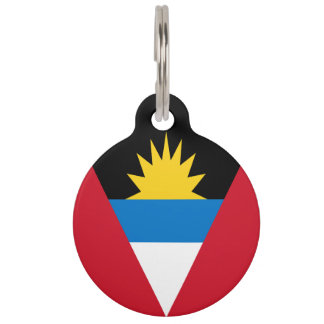 Antigua and Barbuda Flag Pet Tag