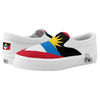 Antigua and Barbuda Flag Slip-On Shoes