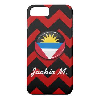 Antigua and Barbuda Glossy Round Flag iPhone 7 Plus Case
