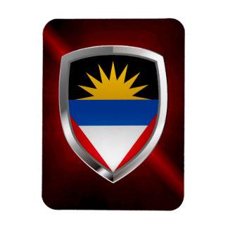 Antigua and Barbuda Mettalic Emblem Rectangular Photo Magnet