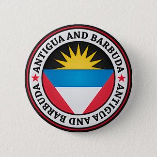 Antigua And Barbuda Round Emblem 6 Cm Round Badge