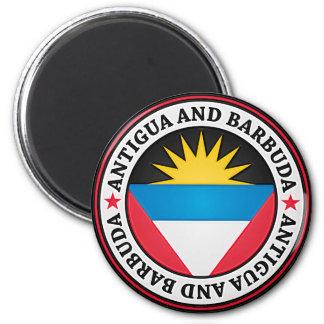 Antigua And Barbuda Round Emblem Magnet