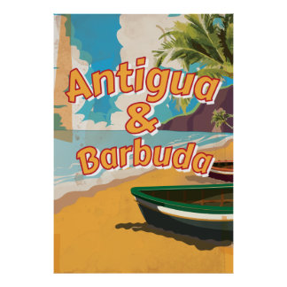 Antigua and Barbuda Vintage vacation Poster
