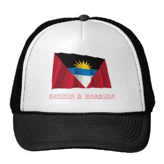 Antigua and Barbuda Waving Flag with Name Mesh Hat