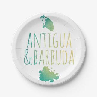 Antigua & Barbuda Paper Plate