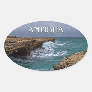 Antigua Island Seascape Sticker