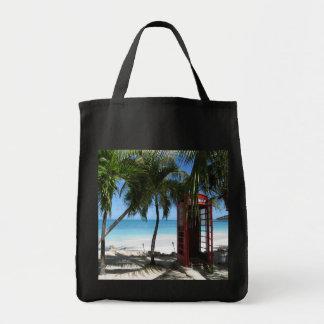 Antigua Phone box Grocery Tote Bag