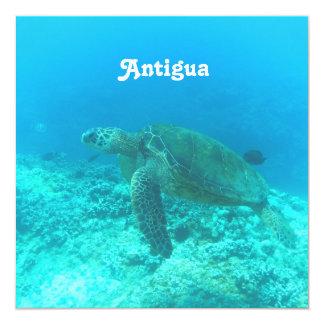 Antigua Scuba Diving 5.25x5.25 Square Paper Invitation Card