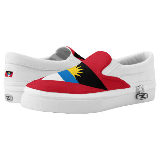Antiguan and Barbudan flag Slip On Shoes