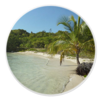 Antiguan Beach Beautiful Tropical Landscape Ceramic Knob