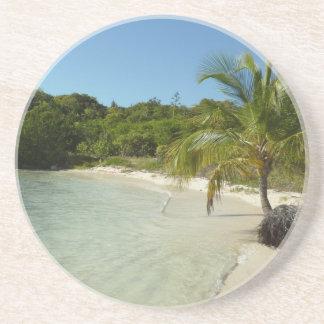 Antiguan Beach Beautiful Tropical Landscape Coaster