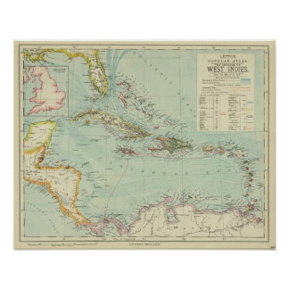 Antilles or West Indies Poster