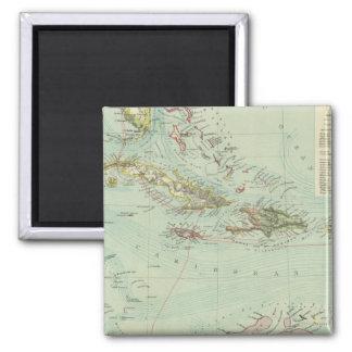 Antilles or West Indies Square Magnet