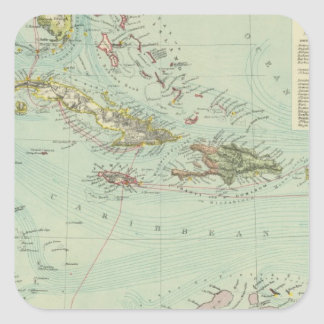 Antilles or West Indies Square Sticker