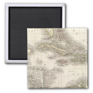 Antilles - West Indies Square Magnet