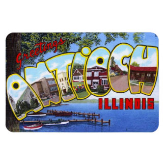 Antioch Illinois IL Large Letter Postcard Magnet