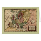 Antiquarian 1721 Map of Europe by Herman Moll Card