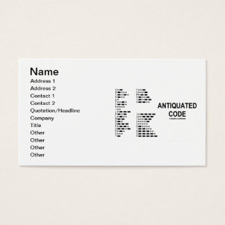 Antiquated Code (International Morse Code) Business Card