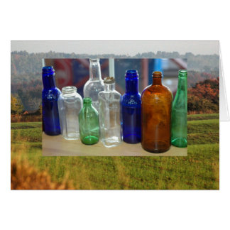 Antiquated Glass Jars Greeting Card