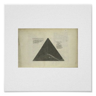 Antique 1670 pyramid Picture Poster