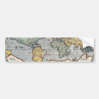 Antique 16th Century World Map Bumper Sticker