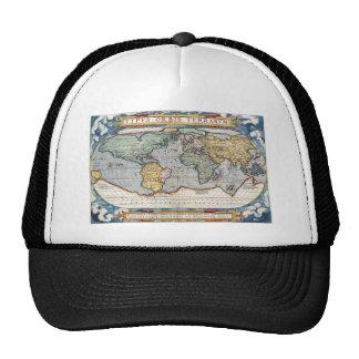 Antique 16th Century World Map Trucker Hats