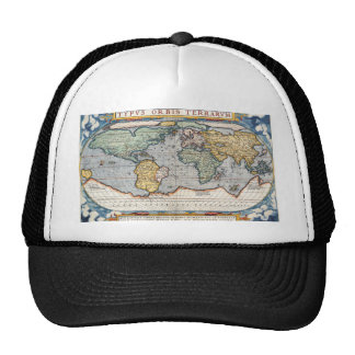 Antique 16th Century World Map Hat