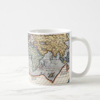 Antique 16th Century World Map Mugs