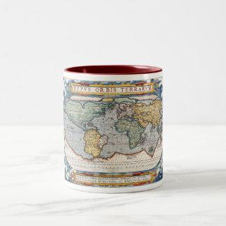 Antique 16th Century World Map Mug