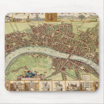 Antique 17th Century Map of London W. Hollar Mouse Pads