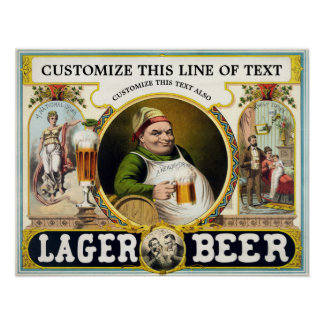 Antique 1879 Beer Ad Poster