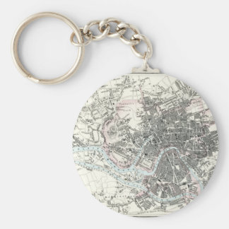 Antique 19th Century Map of Bristol England Key Ring