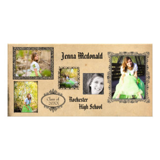 Antique 5 Photos - Grad Announcement Photo Card