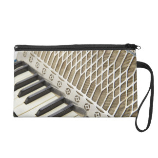 Antique Accordion Keyboard Wristlet Purses