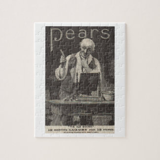 Antique advert from 1895 for Pears shaving stick Jigsaw Puzzle