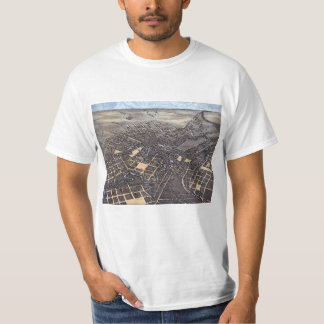 Antique Aerial City Map of San Antonio, Texas 1873 T-Shirt