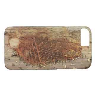 Antique Aerial Map of San Francisco, California iPhone 8/7 Case