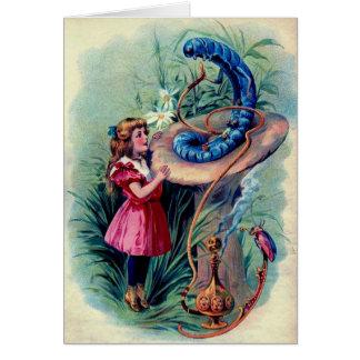 Antique Alice in Wonderland Color illustration Card