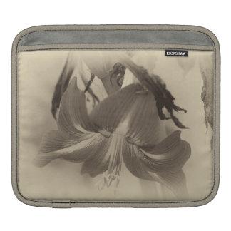 Antique Amaryllis Flower iPad Sleeve
