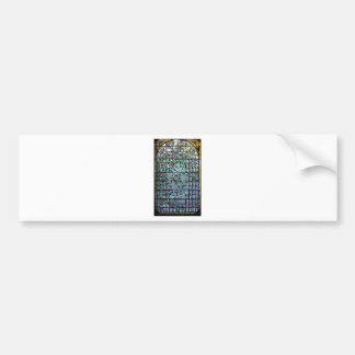 ANTIQUE AMERICAN STAINED GLASS -MORNING GLORY VINE BUMPER STICKERS