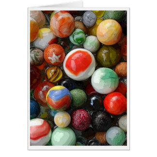 Antique and contemporary marbles card