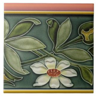 Antique Art Nouveau Border Wall Tile Repro #1