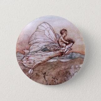 Antique Arthur Rackham Fairy Illustration 6 Cm Round Badge