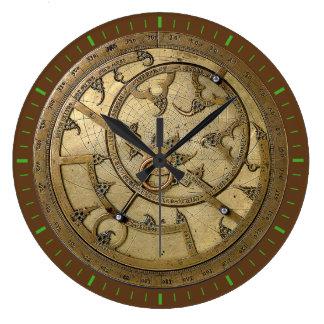Antique Astrolabe 3 Large Clock