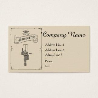 Antique Autoknitter Circular Sockknitting Machine Business Card